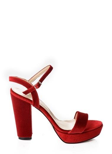 Kalın Topuklu Kadife Ayakkabı-Bambi